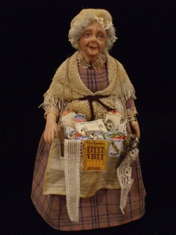 Peggoty the Pedlar OOAK Miniature Doll