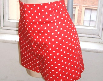 Baylis & Knight Red Polka High Waisted SHORTS Hot Pants Dita Burlesque Pin Up 50's Rockabilly