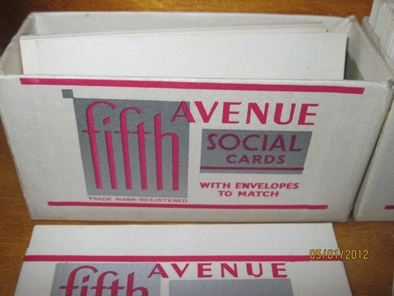 Vintage FIFTH AVENUE Social Cards w Envelopes to Match 1931 By FW Woolworth Co