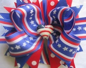 Custom Boutique Handmade 4th of July Hair Bow
