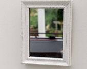 "Rectangular 9""x7"" Shabby chic framed mirror"