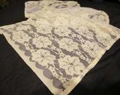 Vintage Handmade Floral Lace Runner