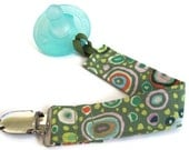 Pacifier clip for boy - Green Roman Glass - Mam Soothie