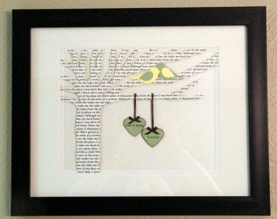 Unique First Wedding Anniversary Gifts: Items Similar To Personalized Wedding Or Anniversary Gift
