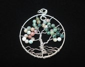 Tree of Life Pendant. Wire wrapped jewelry. Handmade.