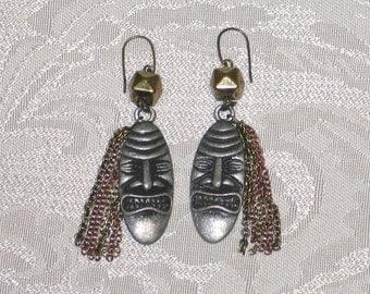 TIki god earrings