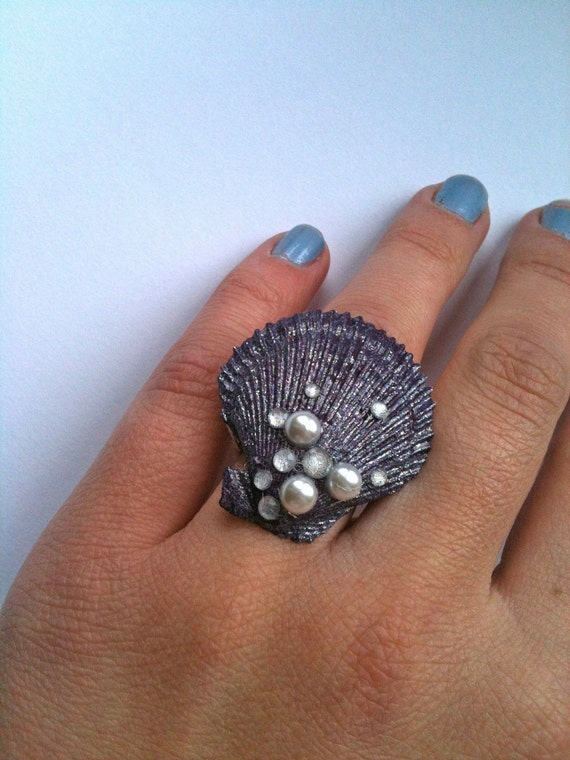 Little Mermaid inspired Shell RIng