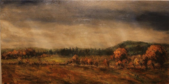 Landscape Painting-Fall Willamette Valley Oregon
