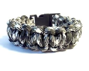 Camouflage Survival Bracelet, Paracord Bracelet, Men's Bracelet, Men's Jewelry
