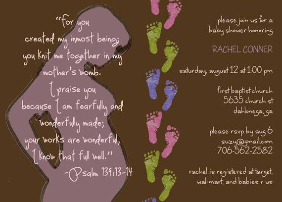 Printable christian baby shower invitation by for Spiritual shower