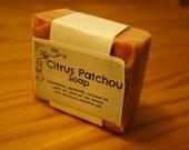 Citrus Patchouli Goats milk Soap