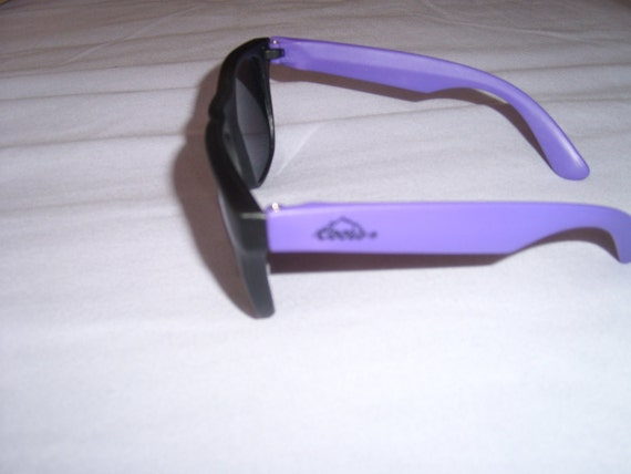 Vintage Coors Light DEADSTOCK Beer Black Purple Mirror Sunglasses