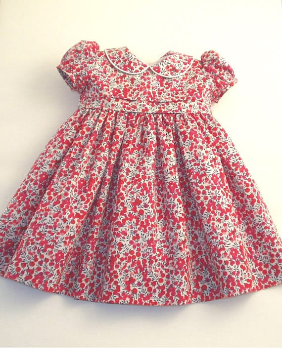 Liberty Tana Lawn Dress, with matching knickers, for A Little Girl, 12 months size.