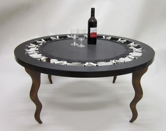 Coffee Tramp Table - coffee table trampoline upcycled