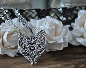 "Spoon Necklace: ""English Lace"" by Silver Spoon Jewelry"