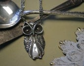 "Spoon Necklace: ""Owl"" by Silver Spoon Jewelry"