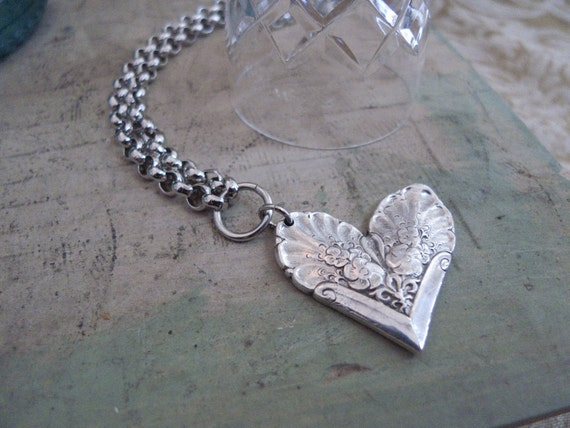 spoon necklace sydney heart by silver spoon by silverspoonj