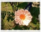 Orange sunflower hair clip