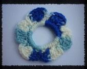 Crochet Flower Hair Scrunchie