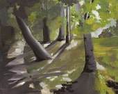"Original Landscape Painting-original painting- ""Walk"""