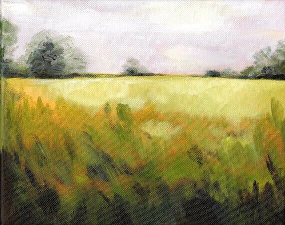 original painting- Original Landscape Painting - Meadow