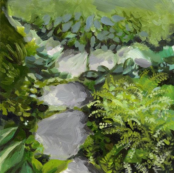 Original Painting - Landscape painting - Garden Path