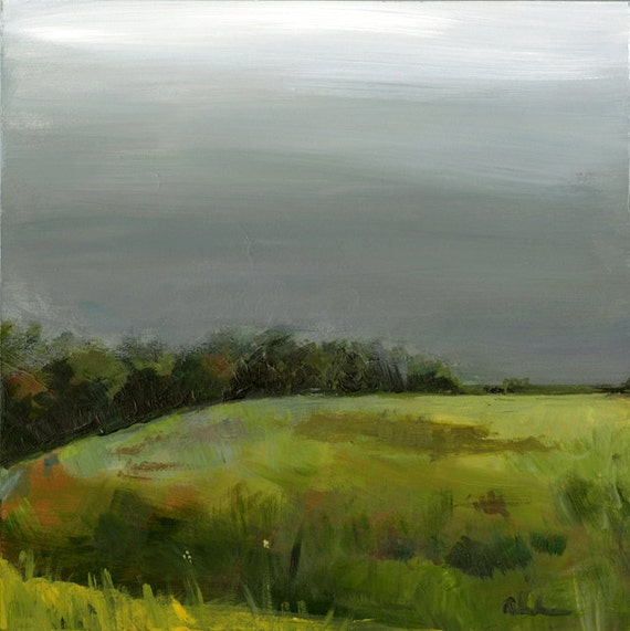 "original painting- Original Landscape Painting - ""Tree line""-wall decor"