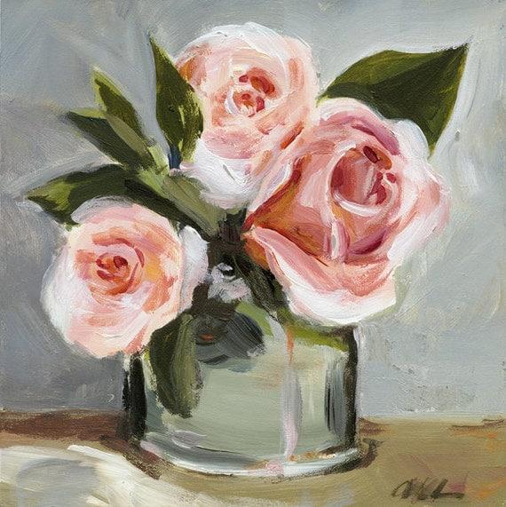"Original Painting - Still Life- Flowers - ""Roses"""