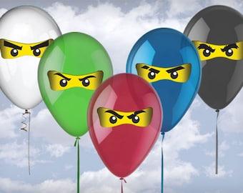 Ninja Balloon Eyes (Digital File)