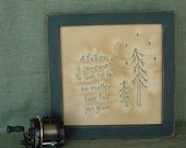 Primitive Stitchery Father- Father's day, Dad, Birthday, Christmas, Shower Gift