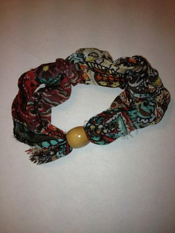 Adjustable Boho Bracelet With Wooden Bead