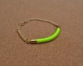 Phase 2 thread bracelet ((neon yellow))