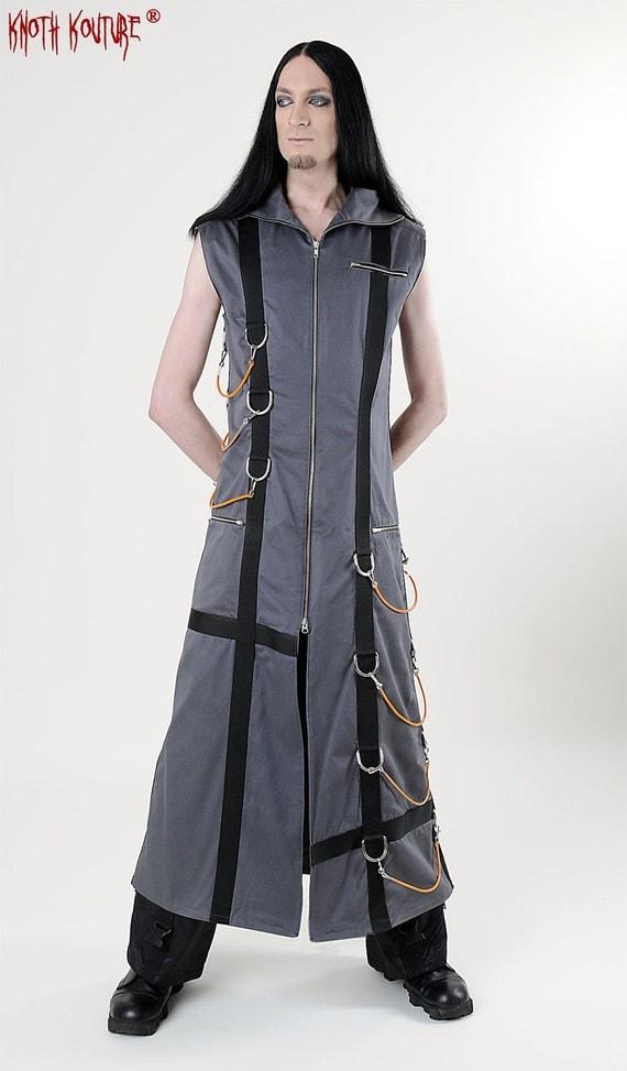 SALE % Sleeveless denim coat for men one- off