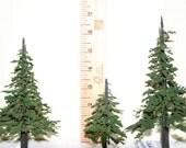 Handmade Model Trees, Lot of 3, Model Railroad Scenery, Diorama