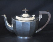 Silverplate Teapot With Wood Handle