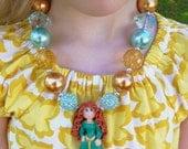 Merida Princess Chunky Necklace Disney