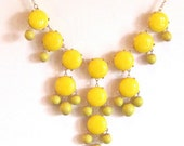 Yellow Bubble Statement Necklace -- Similar to J.Crew Jewelry - cheerfullycharmed