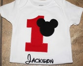 Mickey Mouse Birthday shirt. Personalized Mickey Mouse Birthday Shirt