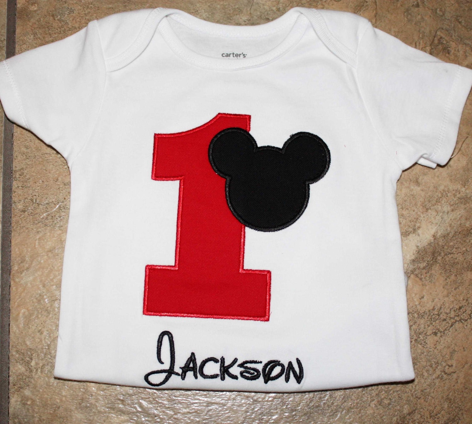 mickey mouse birthday shirt personalized mickey by kajanuary1. Black Bedroom Furniture Sets. Home Design Ideas