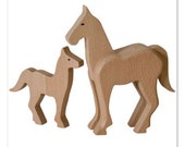 Handcrafted wooden horse, natural, organic wooden toys for kids
