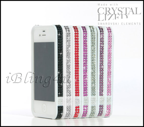 Bling bumper case for iphone 4 4S made with Swarovski crystal elements