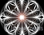 geometric art, spiritual print, 'Respect', gothic art, black and white art, goth wall decor, iconic, abstract, geometric design