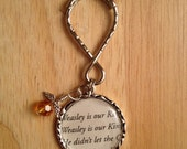 "Harry Potter ""Weasley is Our King"" Quidditch Key Chain"