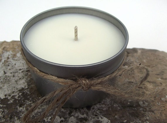 Hand Poured Vanilla Hazelnut Mocha Scented, Soy Wax Tin -- 6 ounce Tin