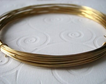 Red Brass Wire, 22 Guage Nu Gold Brass Wire, Half Hard for Wire Wrapping, Jewelers Brass Wire