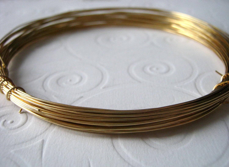 Red Brass Wire, 22 Guage Nu Gold Brass Wire, Half Hard for Wire ...