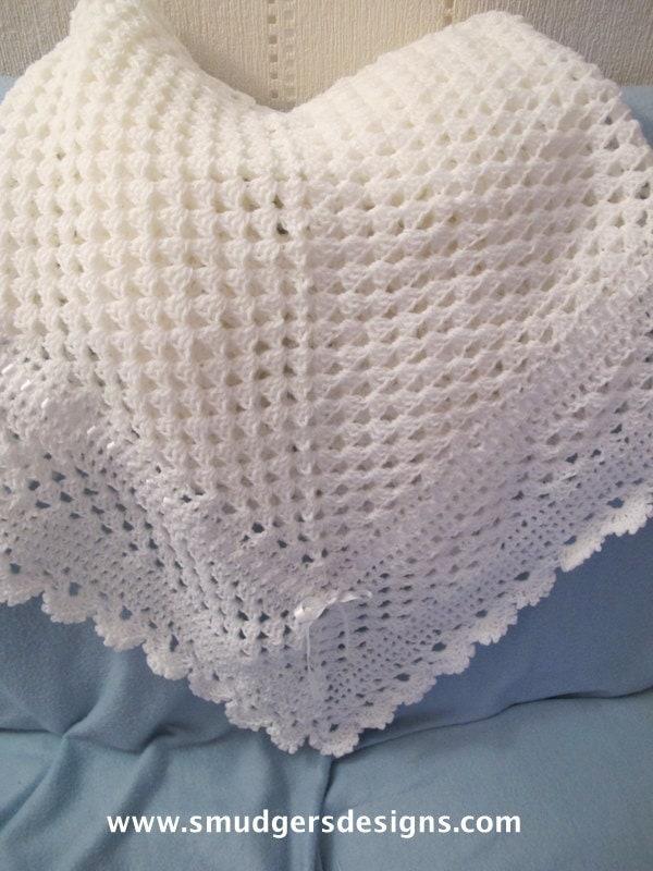 Baby Crochet Patterns Etsy : Baby Crochet Shawl Pattern No 80