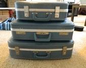 Set of 3 vintage suitcases
