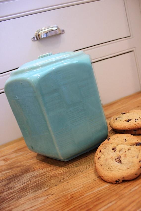 Smart Cookie ... Vintage Shawnee Hexagon Cookie Jar in  PaleTurquoise