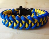 Made-To-Order Custom Color Shark Jaw Bone Paracord Survival Bracelet with a Survival Whistle Side Release Buckle